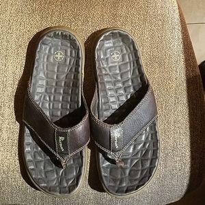 Dr. Martens Brown Slip On Flip Flops Sandals Shoes